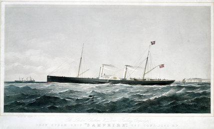 'Iron Steam Ship 'Samphire'', 1863.