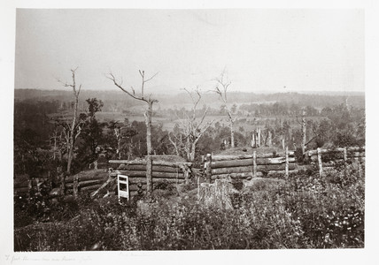 View of Kennesaw Mountain, Georgia, USA, 1866.