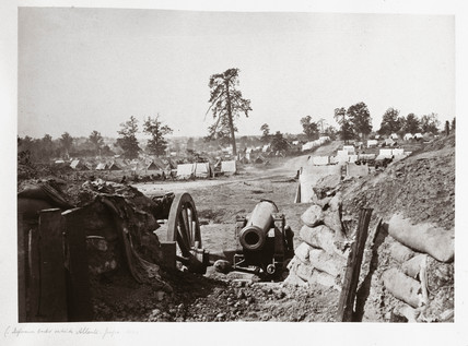 Confederate fortifications in front of Atlanta, Georgia, USA, 1864.