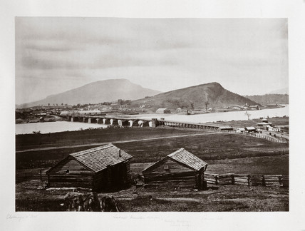 Chattanooga, Tennesee, USA, from the north, 1864.