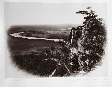 Chattanooga Valley from Lookout Mountain, Tennesee, USA, c 1865.