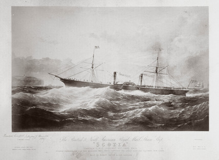 The British and North American Royal Mail Steam Ship 'Scotia', c 1867.