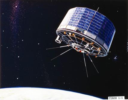 TIROS 1 meteorological satellite, 1960.