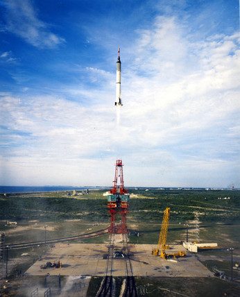 Launch of Virgil 'Gus' Grisom's Redstone rocket (MR4), 1961.