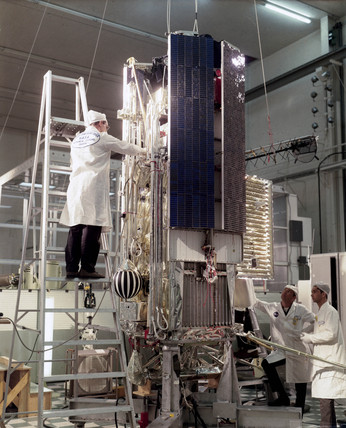 The Orbiting Geophysical Observatory (OGO) 2 satellite, 1965.