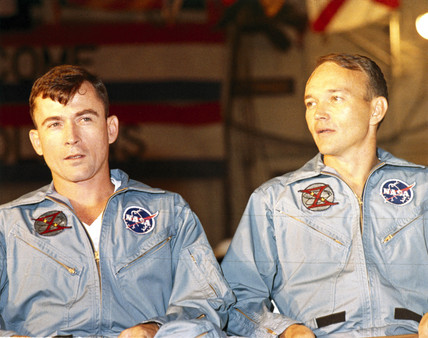 Gemini 10 astronauts John Young and Michael Collins, 1966.