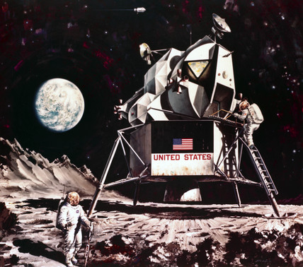 Artist impresion of the Apollo Lunar Module, 1968.