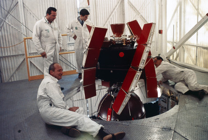 The Radio Astronomy Explorer (Rae-A) satellite, 1968.