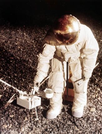 Practising lunar surface activities, 1968.