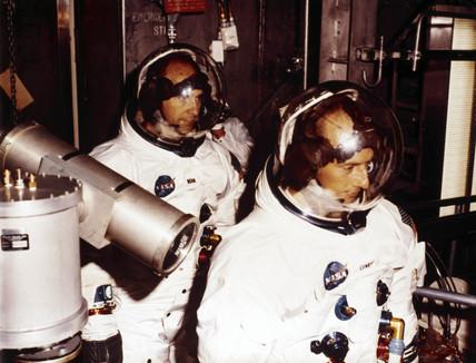Backup crew for Apollo 9, 1968.