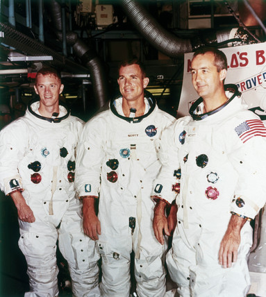 Apollo 9 astronauts, 1968.