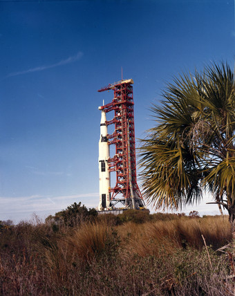 Apollo 9 Saturn V rocket, 1969.
