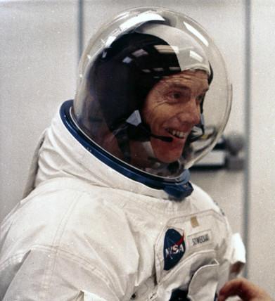 Apollo 9 astronaut Rusell Schweickart, 1969.
