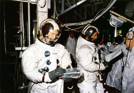Apollo 9 astronauts Rusell Schweickart and David Scott, 1969.