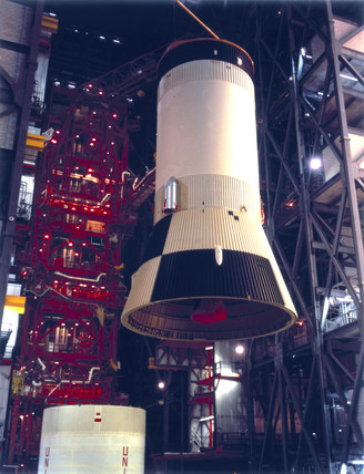 Third stage (S-IVB) of the Apollo 11 Saturn V launch vehicle, 1969.