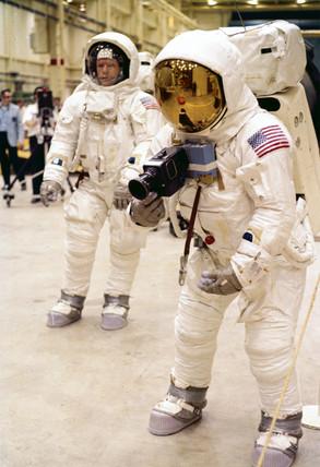 Apollo 11 astronauts Neil Armstrong and Edwin 'Buzz' Aldrin, 1969.