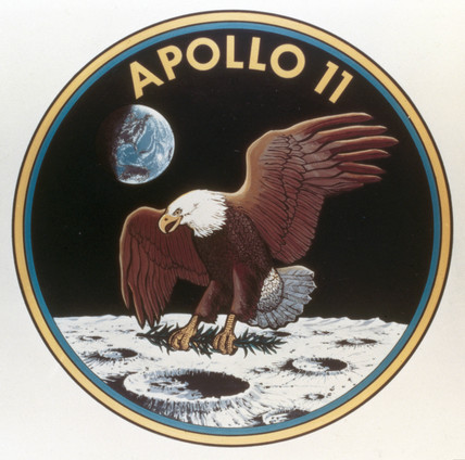 Apollo 11 mision badge, 1969.