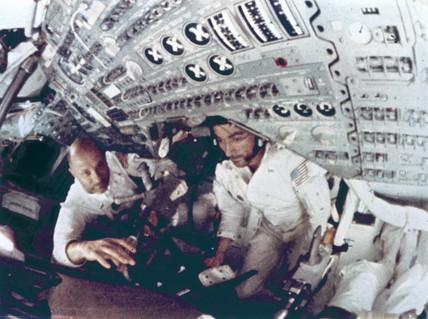 Apollo 10 astronauts Thomas Stafford and John Young, May 1969.