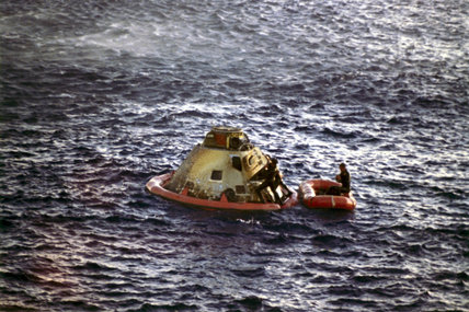 The Apollo 10 Command Module (Capsule), 26th May, 1969.
