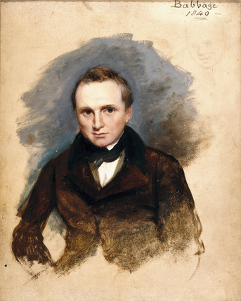 Charles Babbage, English pioneer of machine computing, 1840.