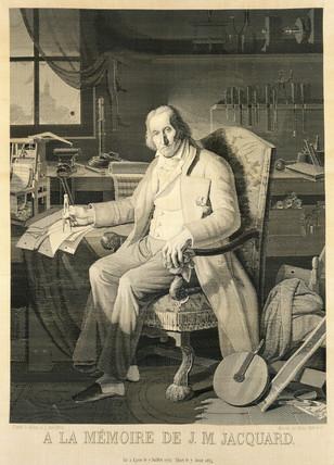 Joseph Marie Jacquard, inventor of the Jacquard loom, 1839.