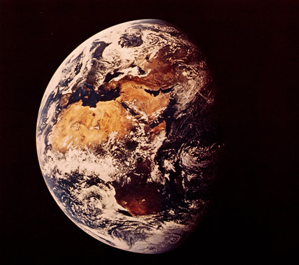 The Earth from space, July 1969.