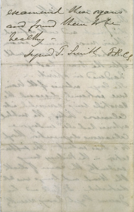 Post-mortem report for mathematician Charles Babbage, 1871.