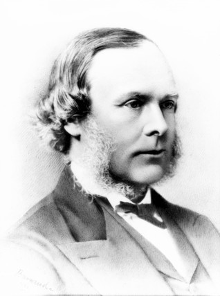 Joseph Lister, English surgeon and founder of antiseptic surgery, 1881.