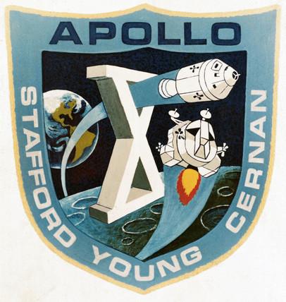 The official Apollo 10 emblem, 1969. Apoll