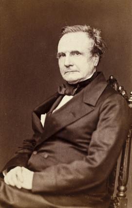 Charles Babbage, English pioneer of machine computing, 1860.