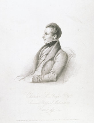 Charles Babbage, British mathematician and computing pioneer , 1832.