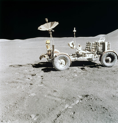 Apollo 15 Lunar Rover on the Moon, August 1971.