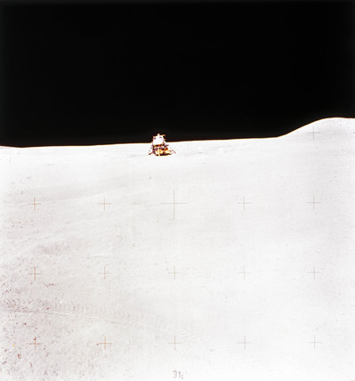 Apollo 15 Lunar Module on the Moon, August 1971.