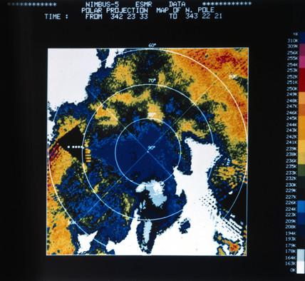 Temperatures over the Arctic, 1973.