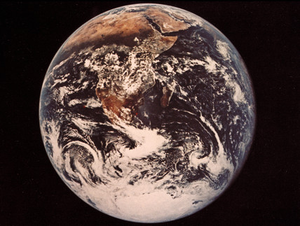 Full view of the Earth, 1972.