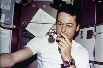 Skylab 2 astronaut, Joseph Kerwin, 1973.