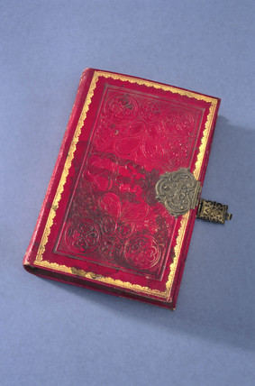 Book shaped esence box, late 18th century.