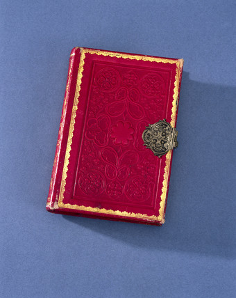 Book shaped esence box, late 18th century.