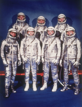 The 'Mercury Seven' astronauts, 1959.