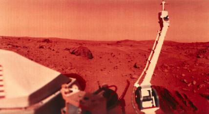 Viking 1 on Mars, 1976.