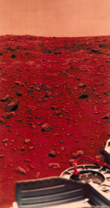 View of the Martian surface taken by a Viking Lander, 1976.