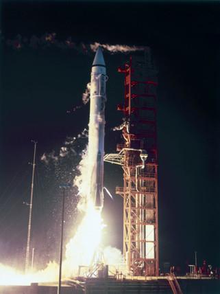 Launch of Atlas-Centaur rocket, 1967.