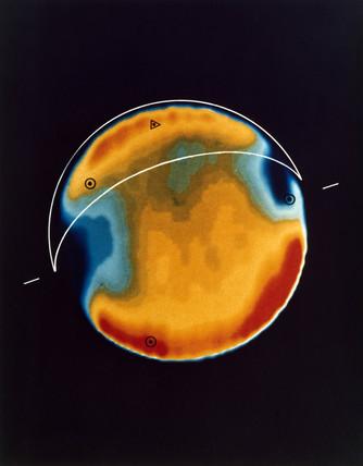 False colour infrared map of Venus, 1978.