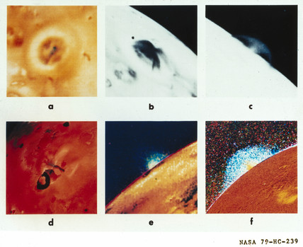 Volcanoes on Io, one of the moons of Jupiter, 1979.