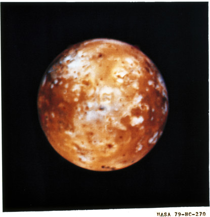 Io, one of the moons of Jupiter, 1979.
