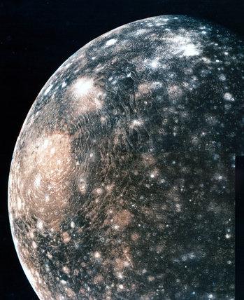 Callisto, one of Jupiter's moons, 1979.
