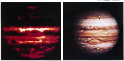 Infrared and visible images of Jupiter, 1979.