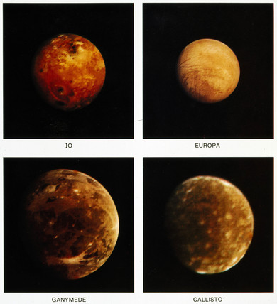 Jupiter's four 'Galilean' moons, 1979.