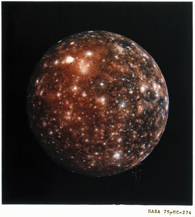 Callisto, one of the moons of Jupiter, 1979.