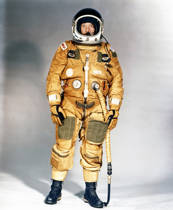 Early Space Shuttle ejection escape suit, 1979.